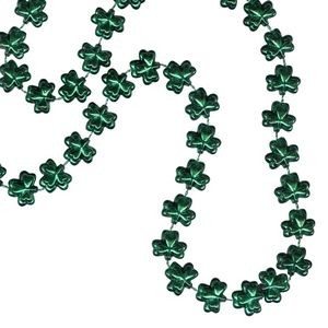 Clover Shaped Mardi Gras Beads
