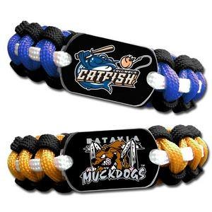 Paracord Bracelet with Dog Tag and Epoxy Domed Logo